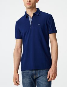 ARMANI EXCHANGE Contrast Placket Pique Polo Short-sleeved polo U f