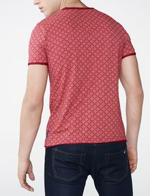 ARMANI EXCHANGE Graphic Grid Two-Layer Crew Short Sleeve Tee U r