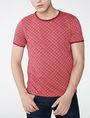 ARMANI EXCHANGE Graphic Grid Two-Layer Crew Short Sleeve Tee U f