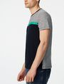 ARMANI EXCHANGE Pattern Block Stripe Crew Short Sleeve Tee U d