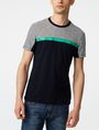 ARMANI EXCHANGE Pattern Block Stripe Crew Short Sleeve Tee U f