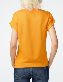 ARMANI EXCHANGE Seamed Roll-Sleeve Top Blouse Woman r