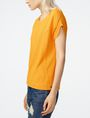 ARMANI EXCHANGE Seamed Roll-Sleeve Top Blouse Woman d