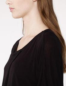 ARMANI EXCHANGE Pleated Short-Sleeve Dolman Top Blouse Woman e