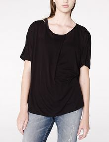ARMANI EXCHANGE Pleated Short-Sleeve Dolman Top Blouse Woman f