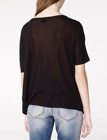 ARMANI EXCHANGE Pleated Short-Sleeve Dolman Top Blouse Woman r
