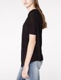 ARMANI EXCHANGE Pleated Short-Sleeve Dolman Top Blouse D d
