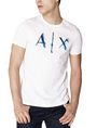 ARMANI EXCHANGE Liquid Bleed Logo Tee Graphic T-shirt U f