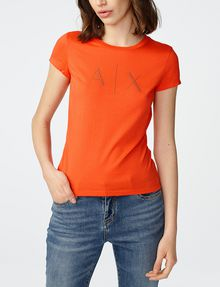 ARMANI EXCHANGE A|X Nail Stud Tee Graphic T-shirt Woman f