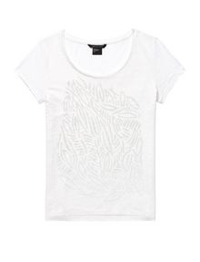 ARMANI EXCHANGE Organic Block Print Tee Short Sleeve Tee Woman d