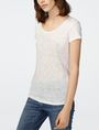 ARMANI EXCHANGE Organic Block Print Tee Short Sleeve Tee Woman f