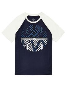 ARMANI EXCHANGE Reversal Raglan Tee Graphic T-shirt Man d