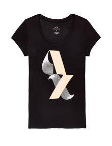 ARMANI EXCHANGE Scoopneck Logo Script Tee Short Sleeve Tee [*** pickupInStoreShipping_info ***] d