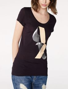 ARMANI EXCHANGE Scoopneck Logo Script Tee Short Sleeve Tee [*** pickupInStoreShipping_info ***] f