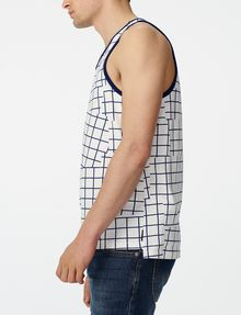 ARMANI EXCHANGE Broken Grid Tank Sleeveless Tee U d