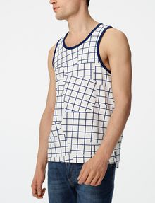 ARMANI EXCHANGE Broken Grid Tank Sleeveless Tee U f