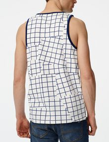 ARMANI EXCHANGE Broken Grid Tank Sleeveless Tee U r