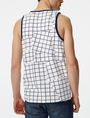 ARMANI EXCHANGE Broken Grid Tank Sleeveless Tee Man r