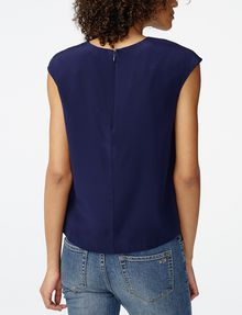 ARMANI EXCHANGE Cutout Silk Shell Shell [*** pickupInStoreShipping_info ***] r