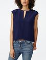 ARMANI EXCHANGE Cutout Silk Shell Shell D f