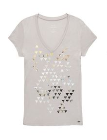ARMANI EXCHANGE Foil Triangle Tee Short Sleeve Tee Woman d