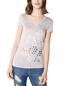 ARMANI EXCHANGE Foil Triangle Tee Short Sleeve Tee Woman f
