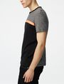 ARMANI EXCHANGE Pattern Block Stripe Crew Short Sleeve Tee Man d