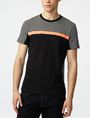 ARMANI EXCHANGE Pattern Block Stripe Crew Short Sleeve Tee Man f