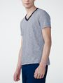 ARMANI EXCHANGE Mini-Stripe V-Neck Tee Short Sleeve Tee U d