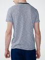 ARMANI EXCHANGE Mini-Stripe V-Neck Tee Short Sleeve Tee U r