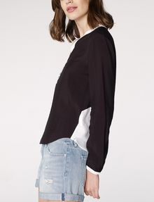 ARMANI EXCHANGE Layered Colorblock Popover Blouse Woman d