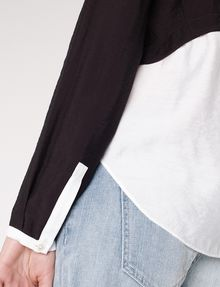 ARMANI EXCHANGE Layered Colorblock Popover Blouse D e