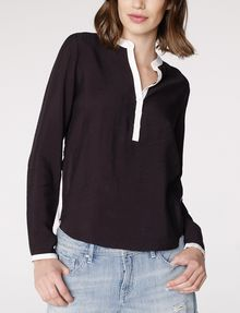 ARMANI EXCHANGE Layered Colorblock Popover Blouse Woman f
