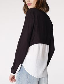 ARMANI EXCHANGE Layered Colorblock Popover Blouse Woman r