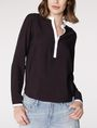 ARMANI EXCHANGE Layered Colorblock Popover Blouse D f