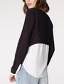 ARMANI EXCHANGE Layered Colorblock Popover Blouse D r