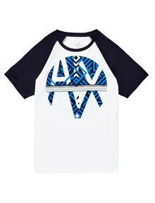 ARMANI EXCHANGE Reversal Raglan Tee Graphic T-shirt U d