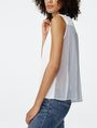 ARMANI EXCHANGE Pleat-Back Popover Blouse D d