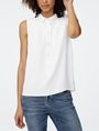 ARMANI EXCHANGE Pleat-Back Popover Blouse D f
