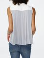 ARMANI EXCHANGE Pleat-Back Popover Blouse Woman r