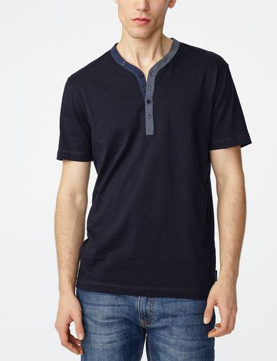 ARMANI EXCHANGE Graphic Trim Henley Man front