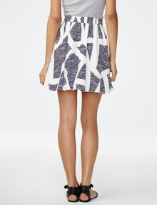 ARMANI EXCHANGE Swingy Flared Miniskirt Skirt D r