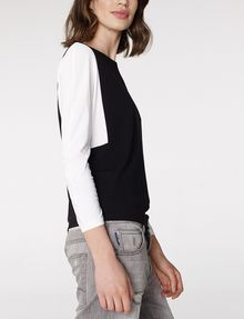 ARMANI EXCHANGE Modular Colorblock Top Blouse D d
