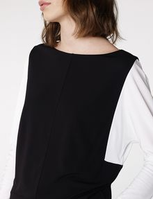 ARMANI EXCHANGE Modular Colorblock Top Blouse D e