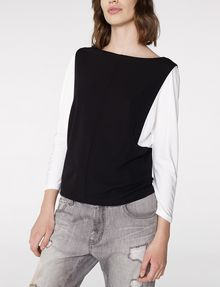 ARMANI EXCHANGE Modular Colorblock Top Blouse D f
