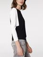ARMANI EXCHANGE Modular Colorblock Top Blouse Woman d