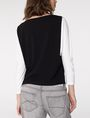 ARMANI EXCHANGE Modular Colorblock Top Blouse Woman r