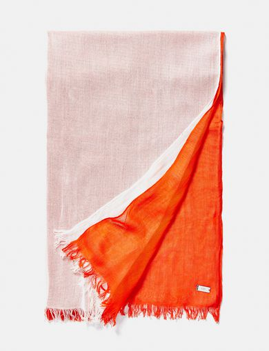 ARMANI EXCHANGE Bicolor Tassel Scarf Woman front