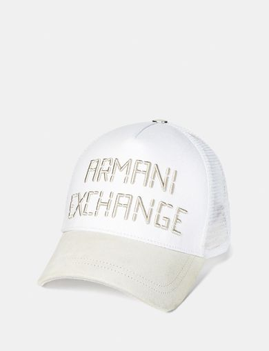 ARMANI EXCHANGE Canvas & Suede Cap Man front
