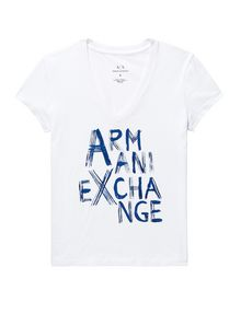 ARMANI EXCHANGE Brushstroke A|X Tee Short Sleeve Tee Woman d